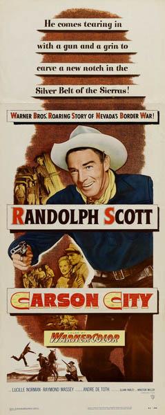 CineScope - Affiche - Les Conquérants de Carson-City - Carson City - 1952