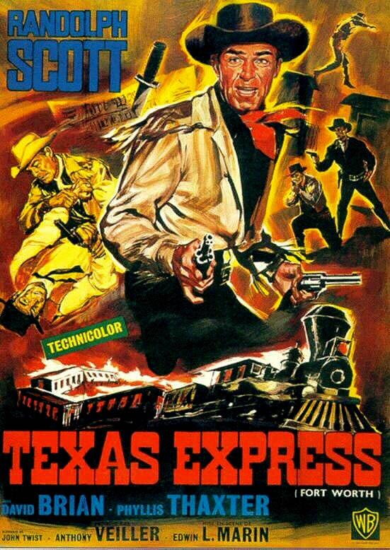 CineScope - Affiche - La Furie du Texas / Texas Express - Fort Worth - 1951