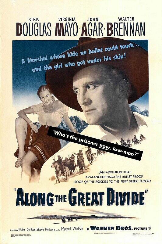 CineScope - Affiche - Une corde pour te pendre / Le Désert de la peur - Along the Great Divide - 1951