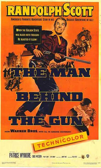 CineScope - Affiche - La taverne des révoltés - The Man Behind the Gun - 1953