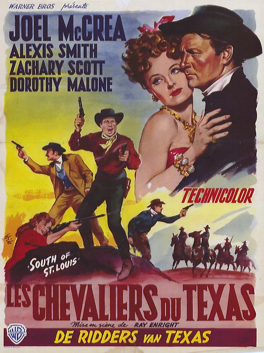 Les Chevaliers du Texas (South of St. Louis)  - 1949 - Ray Enright Affiche_southstlouis